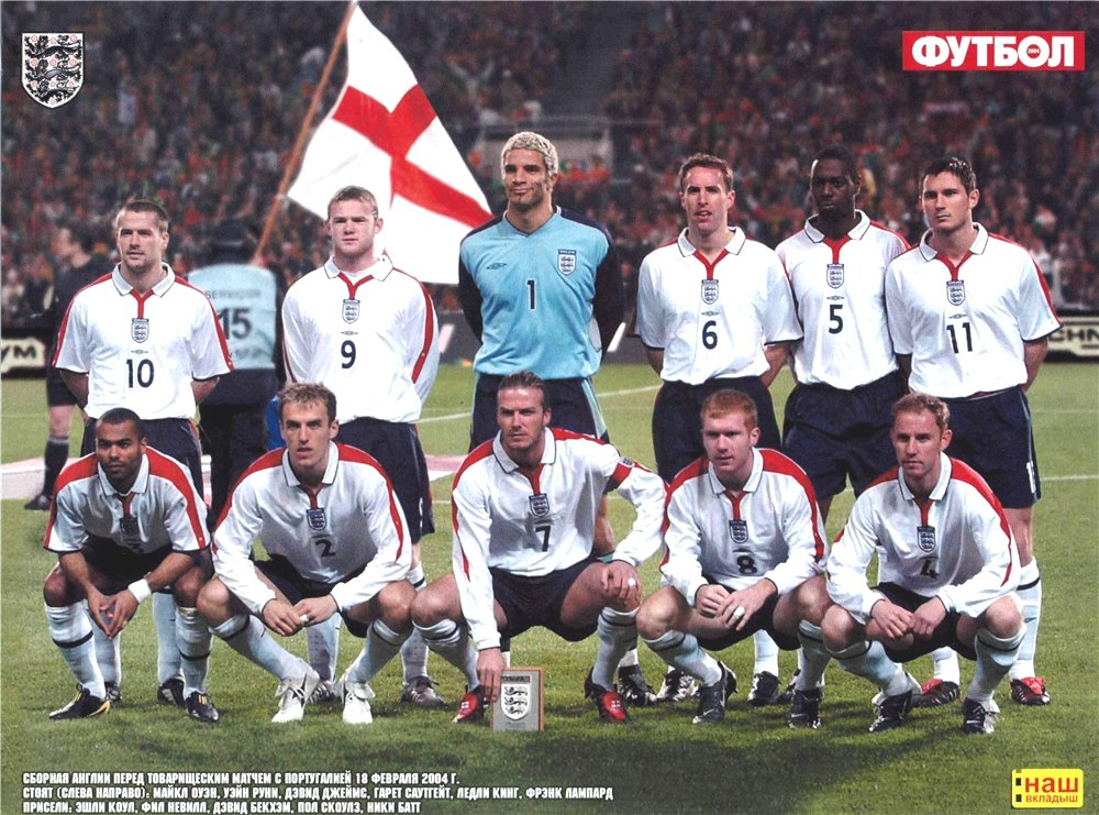 Сборная англия по футболу 2002 год состав